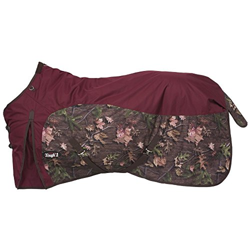 Waterproof Horse Sheet (Tough 1 600D Camo Turnout Sheet 75 Burgundy)