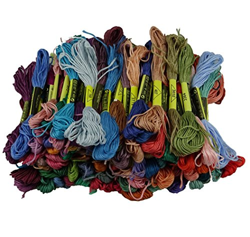 yueton Pack Multi color Embroidery Floss