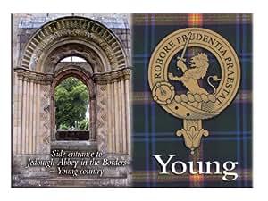 Young Scottish Clan Metallic Picture Fridge Magnet