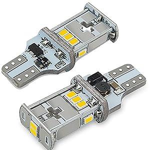 AUXITO T16 LED バックランプ 爆光 キャンセラー内蔵 バックランプ T16 / T15 3020LED10連 12V 無極性 ホワイト