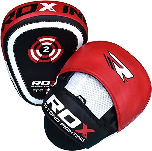 RDX Boxing Target Focus Mitts Hook & Jab Punching Pads MMA Thai Training Strike Kick Shield