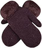 #9: Kids Winter Glove Mittens Knit Thick Hand Warmers Faux Fur Cuffed Gloves Boys Girls