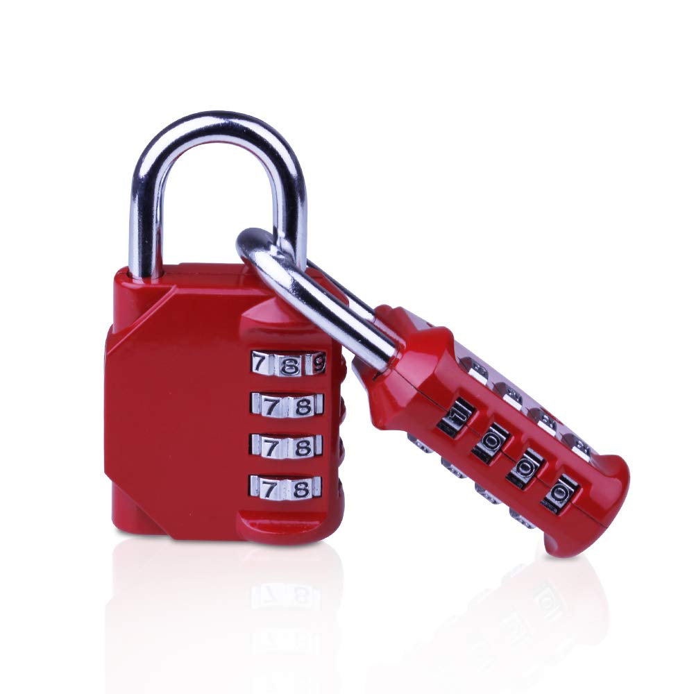 Combination Padlocks, 4 Digit Security Padlock, [2 Pack] Combination Lock for School Gym Suitcase Luggage Hey.Beauty