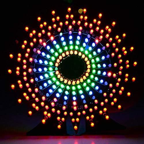 PIKA PIKA QIO Compatibile Kit Fai da Te, Kit Fai-da-Te Elettronico 51 Kit Flash Colorati LED a Chip Singolo Modello di Ruota panoramica Modello Musicale Spettro Modulo