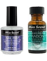 +++ Mia Secret Professional Natural Nail Prep Dehydrate & Xtra Bond Primer 0.5 oz + FREE Temporary Body Tattoo!