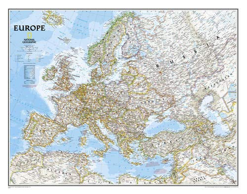 Europe Political Wall Map (enlarged & tubed) (Of Map Europe)