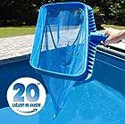Pool Skimmer by SwimPur | Fine Mesh Net Cleaner Leaf Rake | Extra
