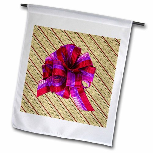 """3dRose fl_60367_2 """"Christmas Gift in Textured Wrapping Pa..."""