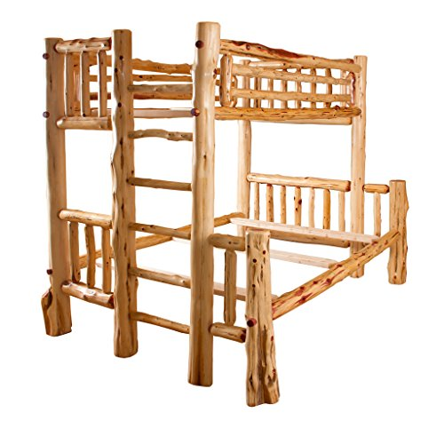 Red Cedar Log Bunk Bed - Twin over Full