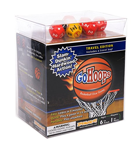 GoHoops Basketball Dice Game | For Basketball Fans, Families and Kids | Play at Home or for -