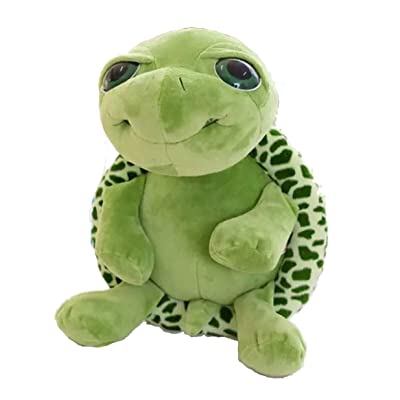 LALANG Big Eyes Plush Tortoise Stuffed Animal Toys for Children Girlfriend Hugging Pillow: Toys & Games