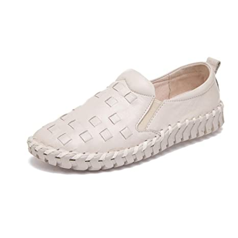 f9d05a7e3165 Image Unavailable. Image not available for. Color  Dreamstar New Leather  Flats Soft Soles Handmade Leather Woven Women s Shoes