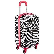 Rockland F191 Luggage Carry On Skin, Pink Zebra, Medium, 20-Inch