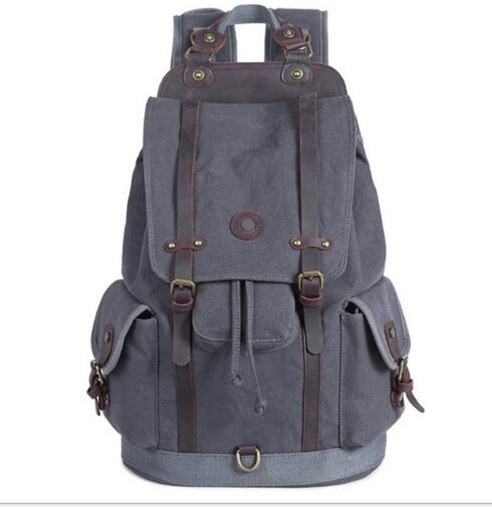 HXZB Mens Canvas Bag Retro Travel Shoulder Bag Outdoor Backpack for Men