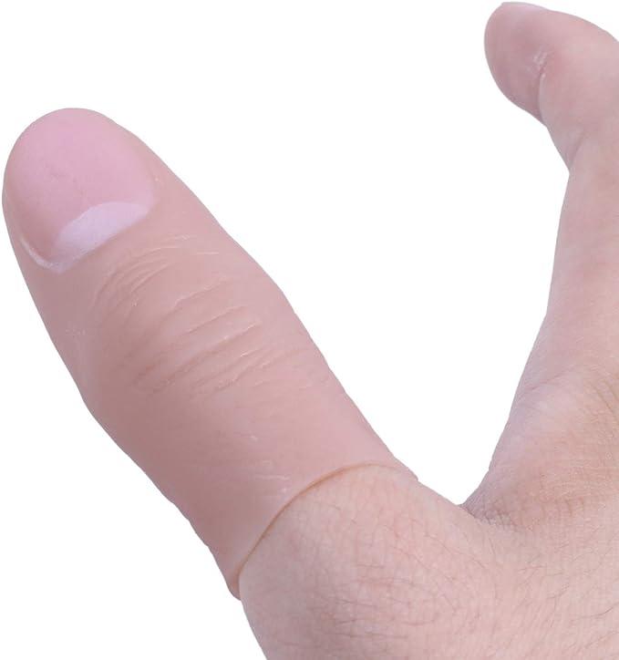 SODIAL(R) Punto del pulgar suave dedo falso Truco de magia Juguete de vinilo Broma divertida: Amazon.es: Juguetes y juegos