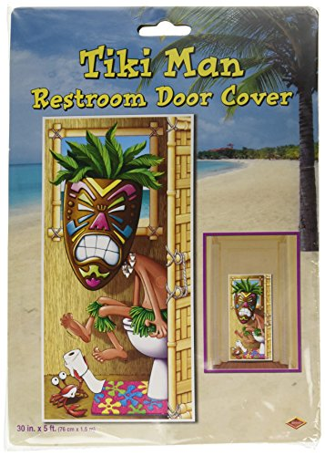 Tiki Man Restroom Door Cover Party Accessory (1 count) (1/Pkg) -