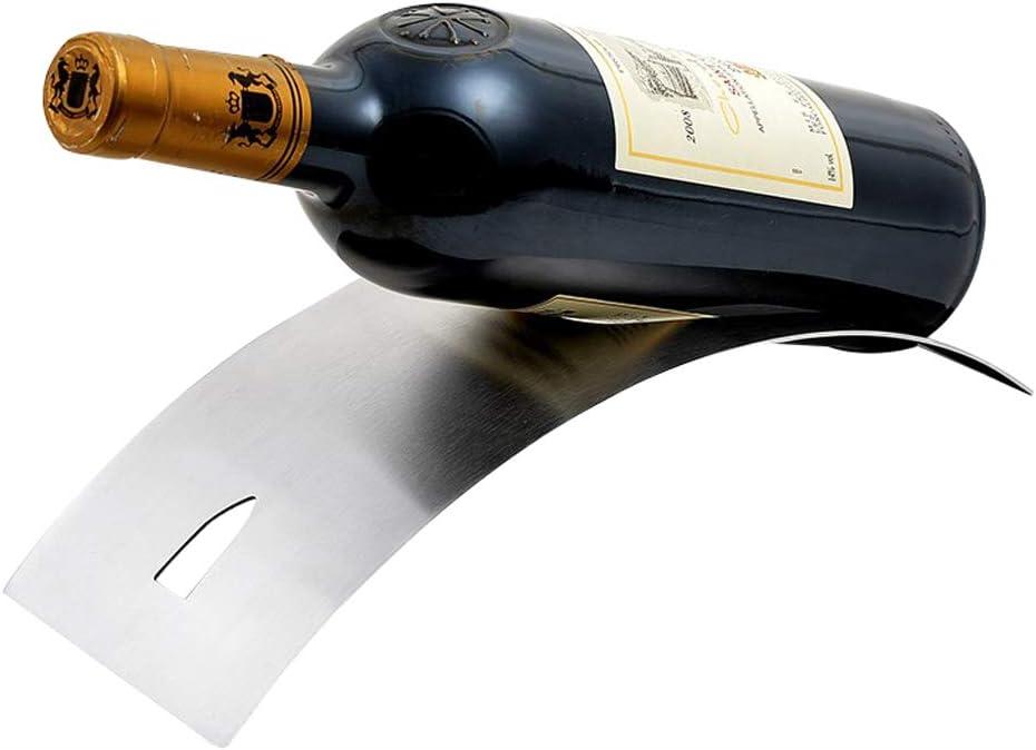 JCSW Portabottiglie da Vino Moderno in Acciaio Inox Satinato Portabottiglie da Vino Curvo Tenuta per Bottiglia da 750 ml,THV088VHT Design Contemporaneo