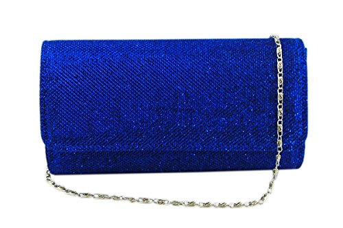AITING Women's Evening Party Wedding Ball Prom Clutch Wallet Handbag (Royal blue), Small