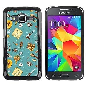 TopCaseStore / la caja del caucho duro de la cubierta de protección de la piel - Gift Teal Wallpaper Clean Kids - Samsung Galaxy Core Prime SM-G360