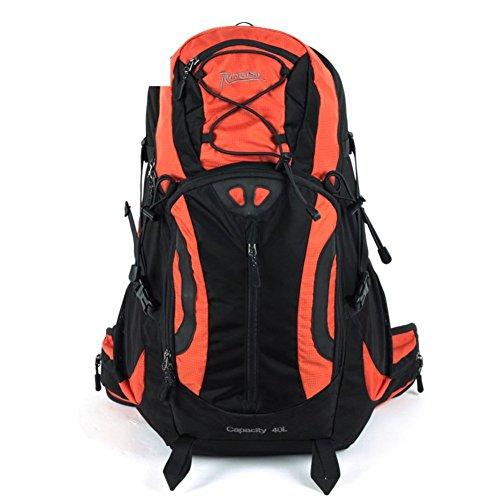 Sincere® Verpackung / Rucksäcke / Mobil / Ultraaußenwasserdichte Wanderbeutel / 40L Freizeitsport Männer und Frauen zu Fuß-Orange 1 40L