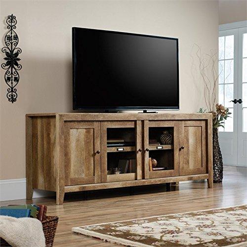 Sauder 420408 Dakota Pass Credenza , Craftsman Oak (Craftsman Glass Cabinet)