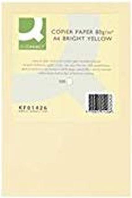 Q-Connect - Papel Color Din A4 80Gr Crema Paquete De 500 Hojas: Amazon.es: Oficina y papelería