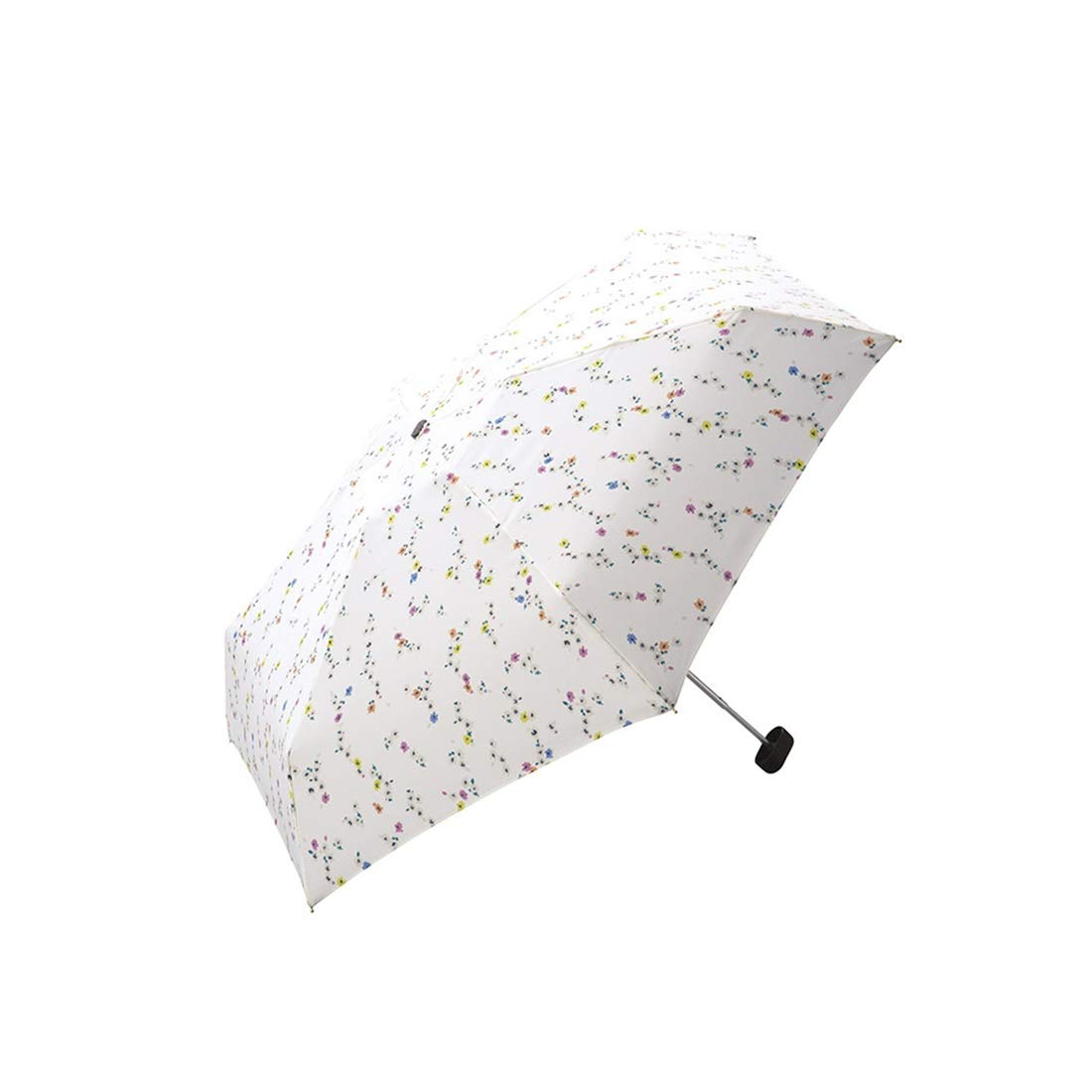 Hexiansheng Folding Umbrellas Travel Umbrellas for Windproof Shades Suitable for Ladies, Men, Children Small and Portable 17cm (Color : Off-White)