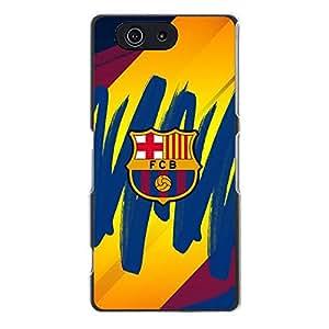 Creative Sony Xperia Z3 Compact (Z3 mini) Accessories,FC Football Club Barcelona Logo Iphone Case Fashion Plastic Logo