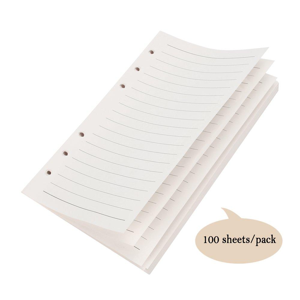 Cuaderno de piel Maleden, rellenable, hojas en blanco. , color azul celeste