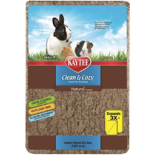 Kaytee Clean & Cozy Natural Small Animal Bedding,85 Liters (5187 cubic inches)