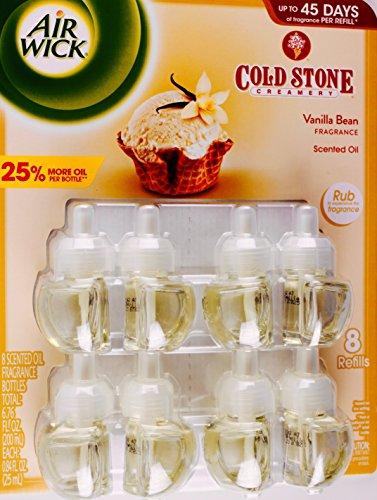 Air Wick Scented Oil Cold Stone Creamery Vanilla Bean, 8 Refills