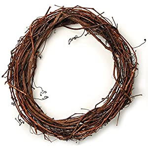 "Darice 2802-73 Grapevine Wreath 18"" 16"