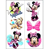 Hallmark 221981 Disney Minnie Mouse Bow-tique Temporary Tattoo Sheets, Health Care Stuffs
