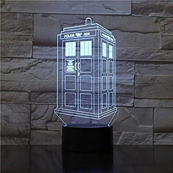 Nndxh Reemplazo De 7 Colores Caja De Policía Con Luz 3D Acrílico ...