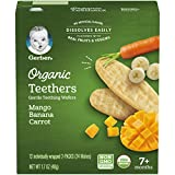 Gerber Organic Teethers, Mango Banana Carrot, 1.7