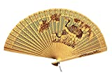 Panda Superstore Chinese Style Hand Held Fan Folding Hand Fans Fan Hand Wooden Folding Fan