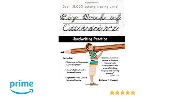 Counting Number worksheets handwriting worksheets for grade 2 : Big Book of Cursive Handwriting Practice (Over 18, 000 Cursive ...