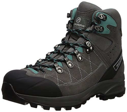 SCARPA Kailash Trek GTX-Women's Hiking Boot, Smoke/Lagoon, 39.5 Regular EU (US W 8, UK 6 US) (Scarpa Womens Kailash Gtx Lady)
