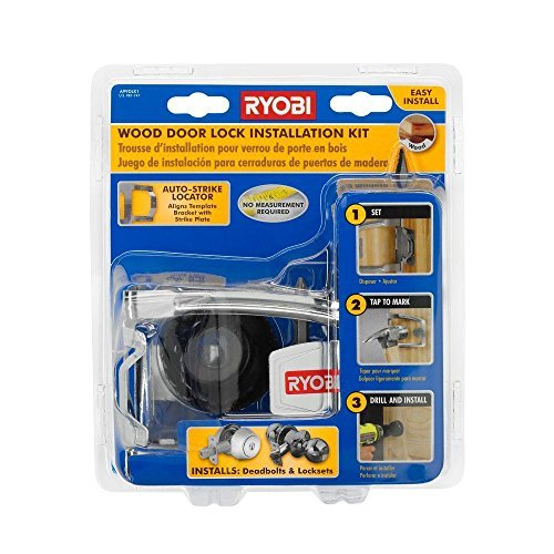 Ryobi A99DLK1 Wood Door Lock Installation Kit