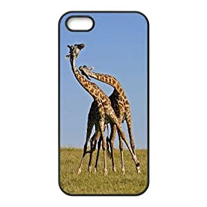 Giraffe and sunset Hard Shell Phone Case Cover For For iphone 5,5S Case FKGZ427815