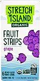Stretch Island Organic Fruit Strips Grape -- 6 Pocket-Sized Fruit Strips - 3PC