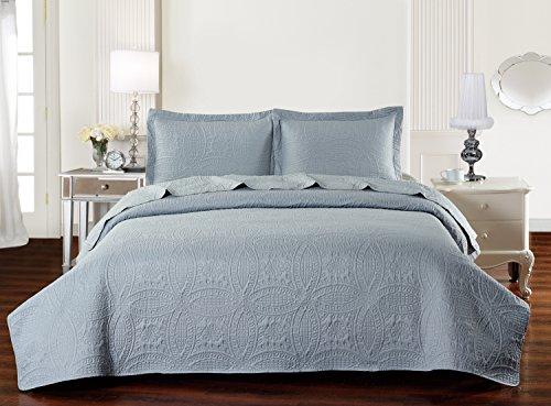 Mellanni Bedspread Coverlet Set Gray Best Quality