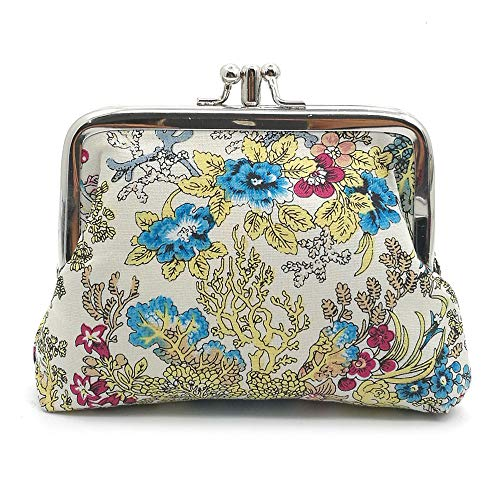 Cute Floral Buckle Coin Purses Vintage Pouch Kiss-lock Change Purse Wallets (13) ()