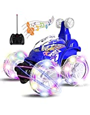 UTTORA Remote Control Car, RC Stunt Car Invincible Tornado Twister Remote Control Rechargeable Vehicle with Colorful Lights & Music Switch for Kids (Camouflage Color)