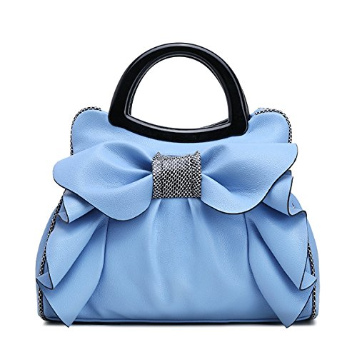 Main Blanc KAXIDY Sac portés Bandoulière Main Sacs Bleu Fourre tout Elégant à Sacs Sac Femmes IFfOqrI