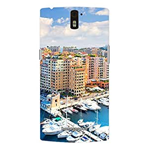 HomeSoGood Marinas Sky City Blue 3D Mobile Case For OnePlus One (Back Cover)