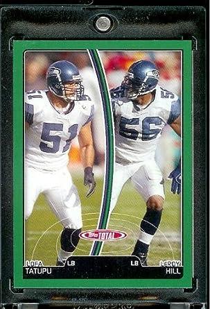 Amazon.com  2007 Topps Total   253 LeRoy Hill - Lofa Tatupu - Seattle  Seahawks - Football Card  Collectibles   Fine Art 67f93461b