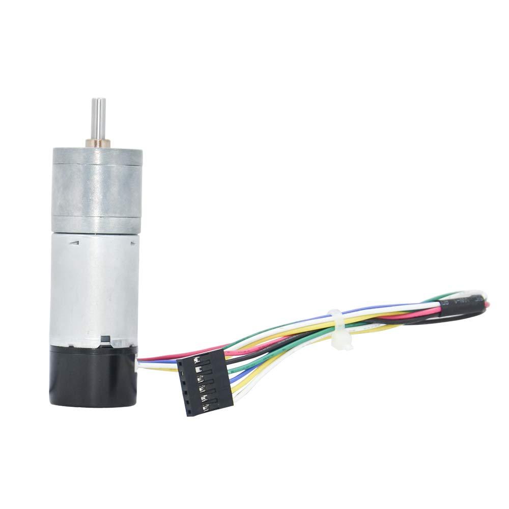 Azssmuk DC Gear Motor 12V 600rpm W//Encoder for Arduino Robot Control