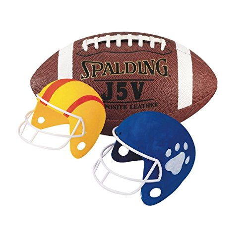 S&S Worldwide Football Fun Helmets Craft Kit (makes 12)