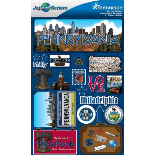 (Jet Setters Dimensional Stickers-Pennsylvania)